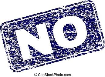 Grunge NO Framed Rounded Rectangle Stamp