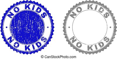 Grunge NO KIDS Textured Stamp Seals