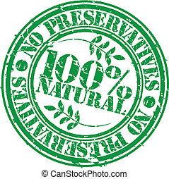 Grunge no preservatives 100 percent natural rubber stamp,...