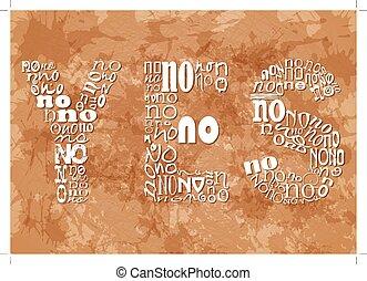 grunge, no, sfondo beige, piccolo, parola, sì, consistere