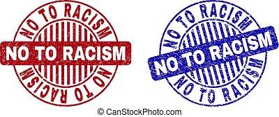 Grunge NO TO RACISM Textured Round Stamp Seals