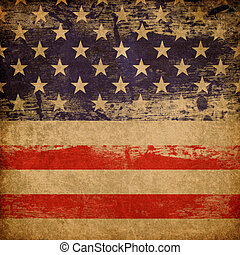 grunge, norteamericano, patriótico, tema, fondo.
