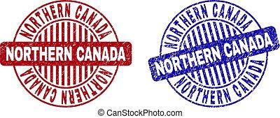 Grunge NORTHERN CANADA Textured Round Stamps