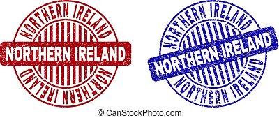 Grunge NORTHERN IRELAND Textured Round Stamp Seals