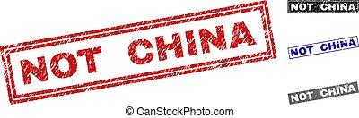 Grunge NOT CHINA Textured Rectangle Watermarks