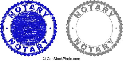 Grunge NOTARY Scratched Stamp Seals