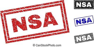 Grunge NSA Textured Rectangle Watermarks