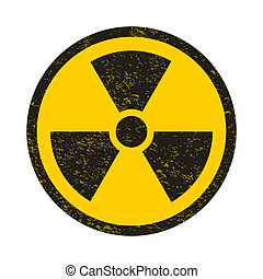 Grunge nuclear symbol illustration