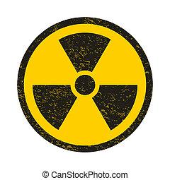 Grunge nuclear symbol illustration
