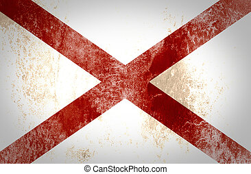 Grunge of Alabama flag