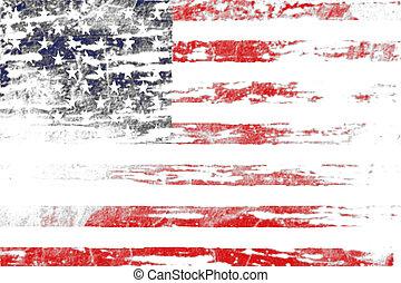 Grunge of American flag background