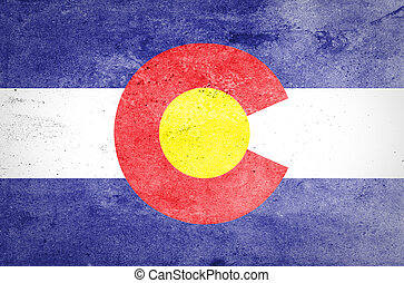 Grunge of Colorado Flag