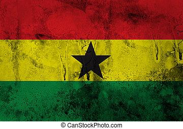 Grunge of Ghana Flag