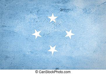Grunge of Micronesia Flag