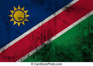 Grunge of Namibia flag