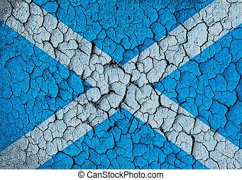 Grunge of Scottish flag