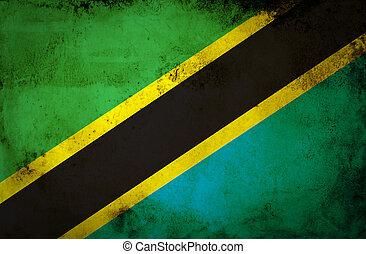 Grunge of Tanzania Flag