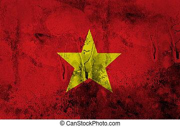 Grunge of Vietnam Flag