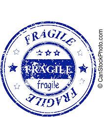 grunge office stamp Fragile