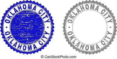 Grunge OKLAHOMA CITY Textured Watermarks