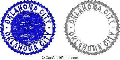 Grunge OKLAHOMA CITY Textured Watermarks