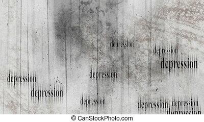 Grunge old film retro depression animated looping background