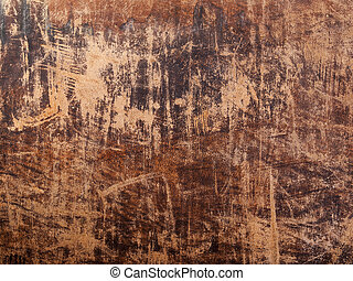Grunge old leather - Brown old leather texture. Design...