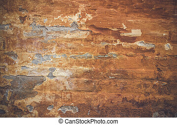 Grunge old wall with orange paint