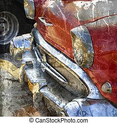 Grunge oldtimer detail