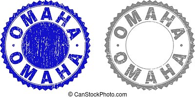Grunge OMAHA Textured Stamps - Grunge OMAHA stamp seals...