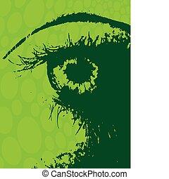 grunge, oogappel
