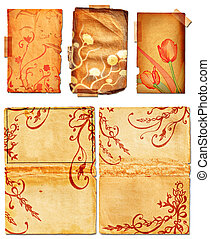 Grunge open book pages with swirls