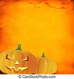 Grunge orange halloween background