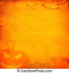 Grunge orange halloween background or texture