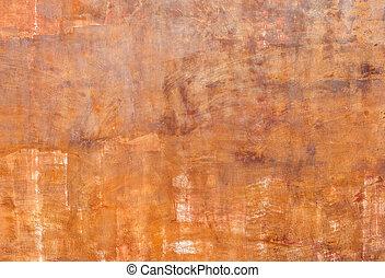 Grunge orange red wall background