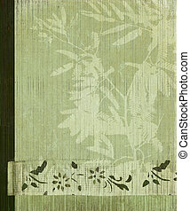 Grunge Oriental Tree and Bamboo Flower Banner