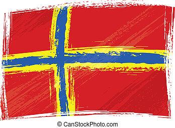 grunge, orkney, drapeau