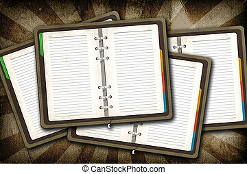 grunge, ouderwetse , achtergrond, leeg, open, pagina