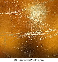 grunge, ouro, clássico, padrão, abstratos, fundo