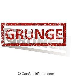 GRUNGE outlined stamp