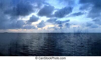 Grunge Overlay Time Lapse Ocean