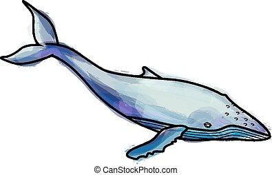 grunge, púpos ember bálnavadászat, ábra