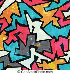 grunge, padrão, graffity, colorido, seamless