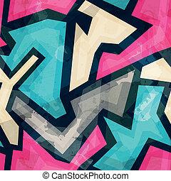grunge, padrão, seamless, efeito, luminoso, geomã©´ricas