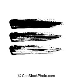 Grunge paint brush stroke set.