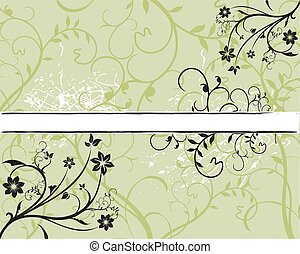 Grunge paint flower background with sample text