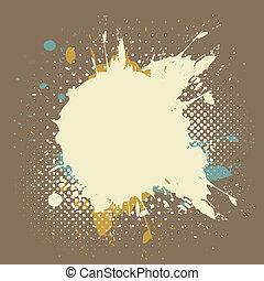 grunge paint splash background