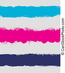 Grunge paint stain headers, background stripes
