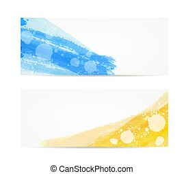 Grunge painted brushed banners
