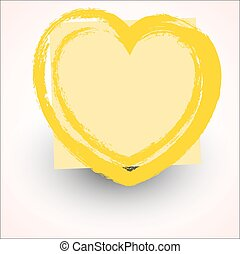 Grunge Painted Heart Banner - Rough Grunge Love Heart Design...